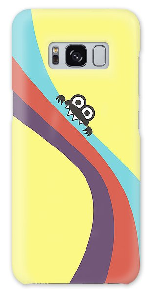 Cute Bug Bites Candy Colored Stripes Galaxy Case