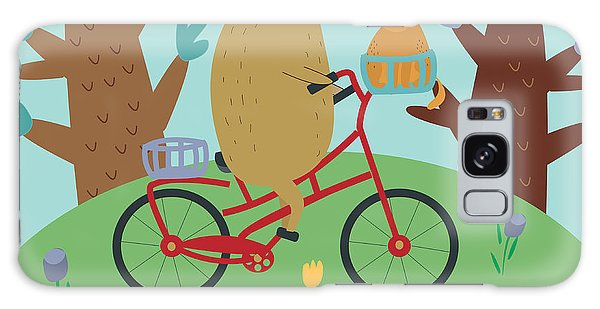 Active Galaxy Case - Cute Illustrations Of Bear Riding A by Kaliaha Volha
