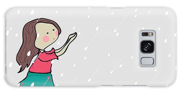 Cause Galaxy Case - Cute Little Girl Enjoying Rains On by Allies Interactive
