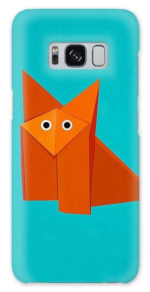Cute Origami Fox Galaxy Case