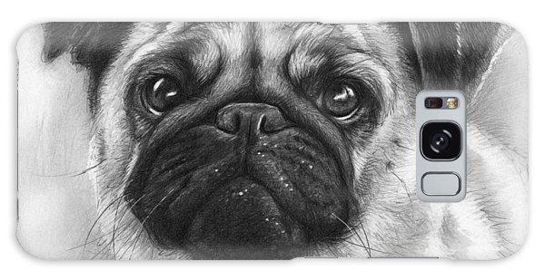 Realistic Galaxy Case - Cute Pug by Olga Shvartsur