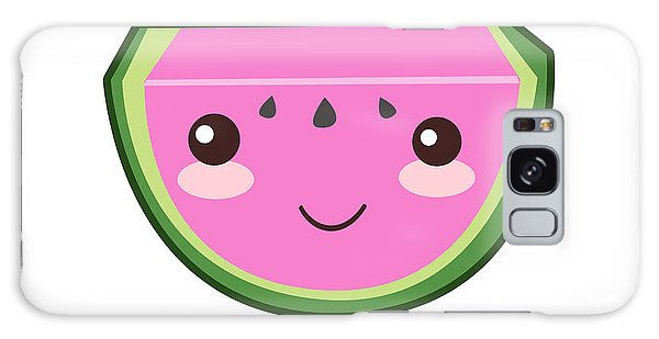 Cute Watermelon Illustration Galaxy Case by Pati Photography