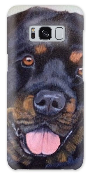 Cutter The Rottweiller Galaxy Case by Sharon Schultz
