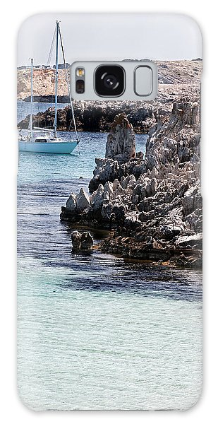 In Cala Pudent Menorca The Cutting Rocks In Contrast With Turquoise Sea Show Us An Awsome Place Galaxy Case