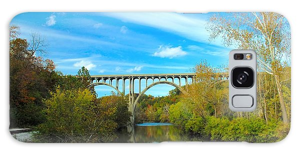 Cuyahoga Valley Scenic Railroad - Brecksville Station Galaxy Case by Dennis Lundell