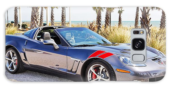 Cyber Gray Grand Sport Corvette At The Beach Galaxy Case