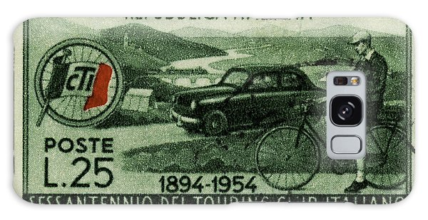 Cycling And Driving Italian Touring Club Stamp Galaxy Case