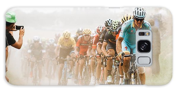 Race Galaxy Case - Cycling In The Dust by Carlo Beretta