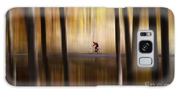 Cyclist In The Forest Galaxy Case