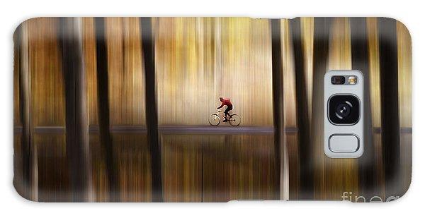 Cyclist In The Forest Galaxy Case by Yuri Santin