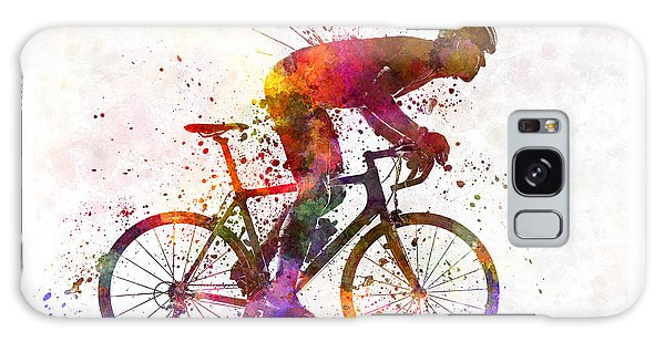 Abstract People Galaxy Case - Cyclist Road Bicycle by Pablo Romero