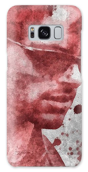 Cyclops Galaxy S8 Case - Cyclops X Men Paint Splatter by Dan Sproul
