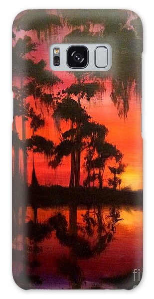 Cypress Swamp At Sunset Galaxy Case