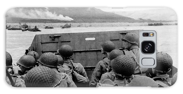 D-day Soldiers In A Higgins Boat  Galaxy Case by War Is Hell Store