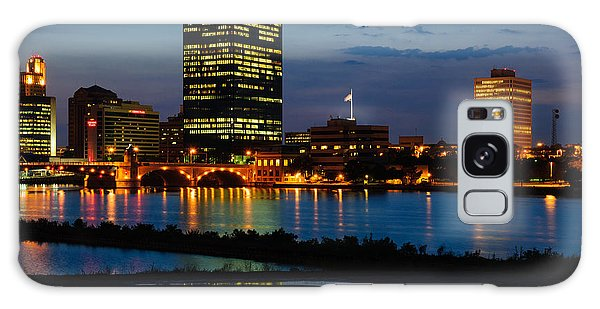 D12u152 Toledo Ohio Skyline Photo Galaxy Case