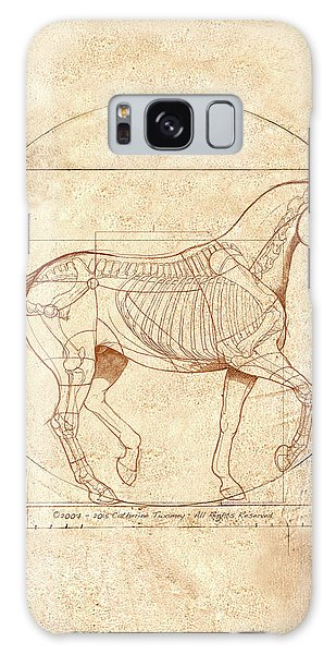 Animal Galaxy Case - da Vinci Horse in Piaffe by Catherine Twomey