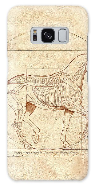 Horse Galaxy Case - da Vinci Horse in Piaffe by Catherine Twomey