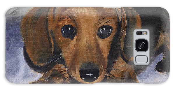 Dachshund Puppy Galaxy Case
