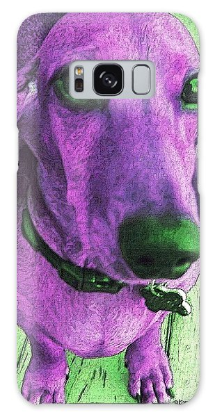 Dachshund - Purple People Greeter Galaxy Case