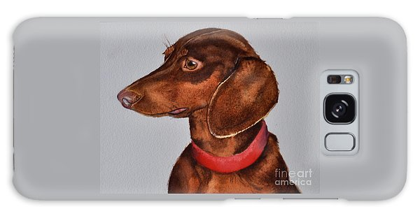 Dachshund Watercolor Painting Galaxy Case