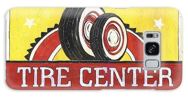 Automobile Galaxy Case - Dad's Tire Center by Debbie DeWitt