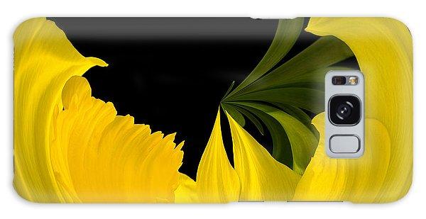 Daffodil Arc Galaxy Case by Cyndy Doty