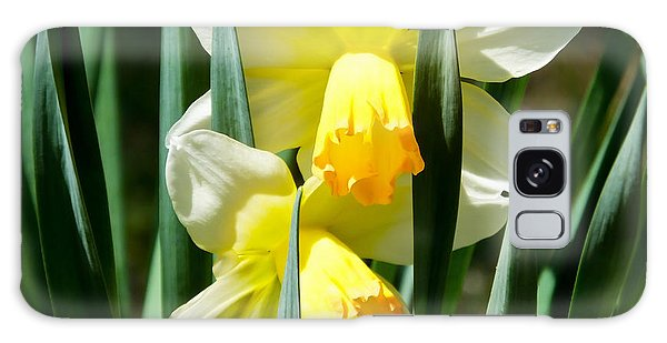 Galaxy Case featuring the photograph Daffodil Hug by Kristen Fox