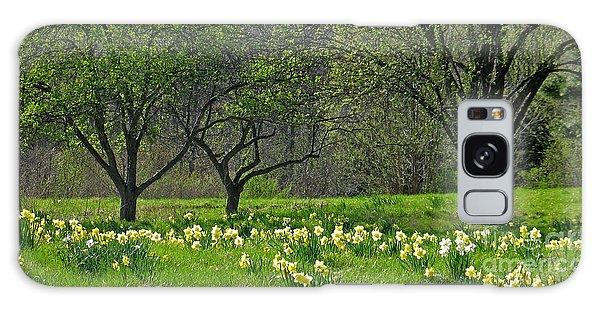 Daffodil Meadow Galaxy Case by Ann Horn