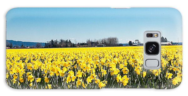Daffodils And Blue Skies Galaxy Case
