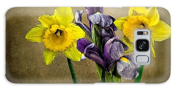Daffodils And Iris Galaxy Case