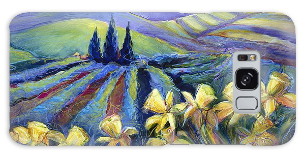 Daffodils And Stormclouds Galaxy Case
