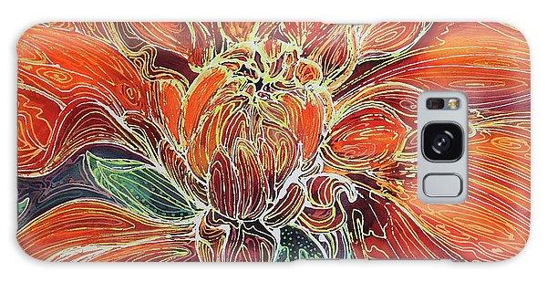 Dahlia Floral Abstract  Galaxy Case