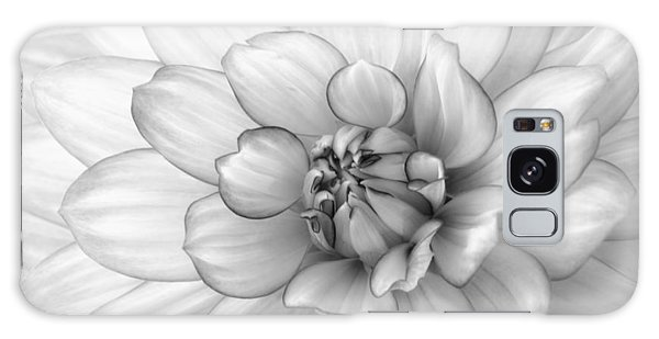 Dahlia Flower Black And White Galaxy Case