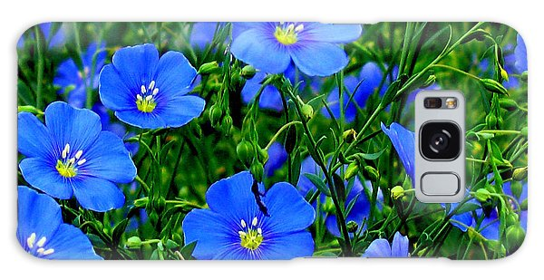 Dainty Blue Flax Linum Galaxy Case