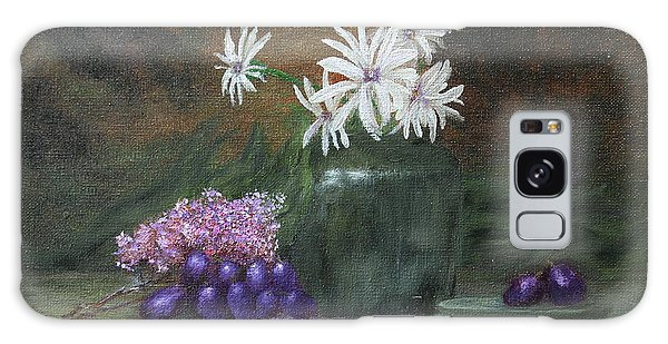 Daisies In Green Vase Galaxy Case