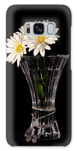 Daisies In Vase Galaxy Case by Tracie Kaska