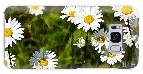 Daisies In Watercolor Galaxy Case by Susan Crossman Buscho