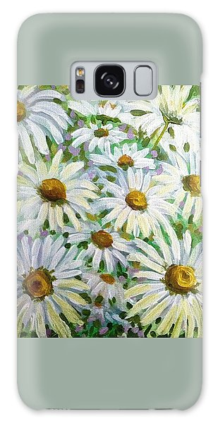 Daisies Galaxy Case by Jeanette Jarmon