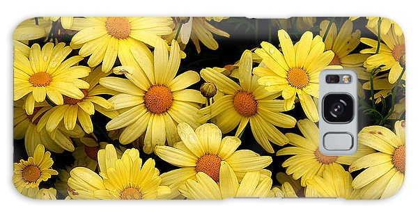 Daisies Galaxy Case by John Bushnell