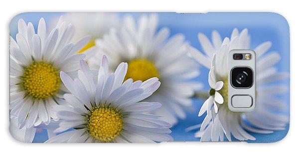 Daisies On Blue Galaxy Case