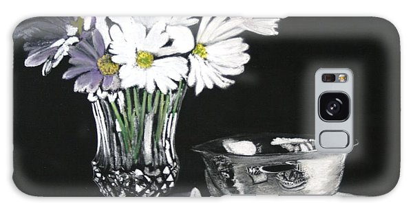 Daisies With Lace Galaxy Case
