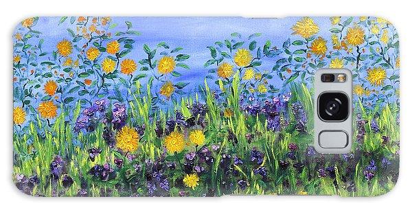 Daisy Days Galaxy Case by Regina Valluzzi