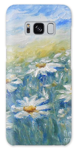 Daisies Galaxy Case by Jane  See