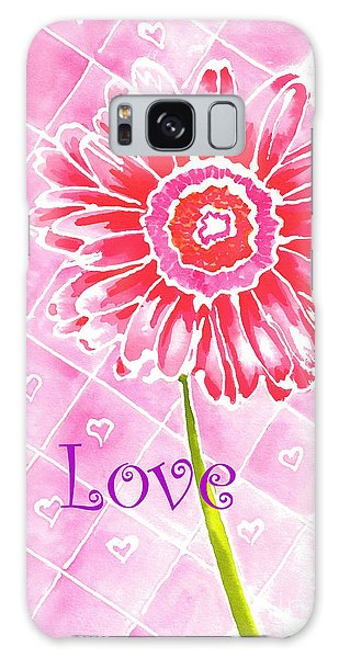 Daisy Loves Love Galaxy Case by Terry Taylor