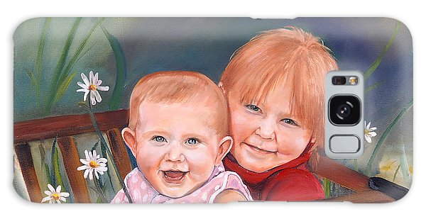 Daisy - Portrait - Girls In Wagon Galaxy Case by Jan Dappen