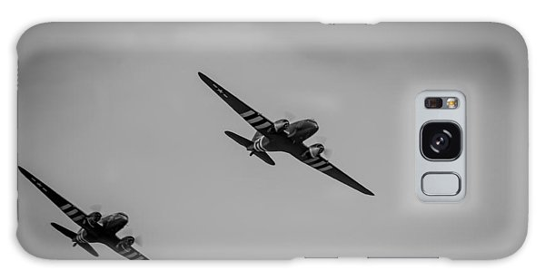 Galaxy Case featuring the photograph Dakota D-day Black And White by Scott Lyons