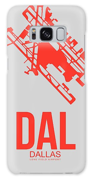 Dallas Galaxy S8 Case - Dal Dallas Airport Poster 1 by Naxart Studio