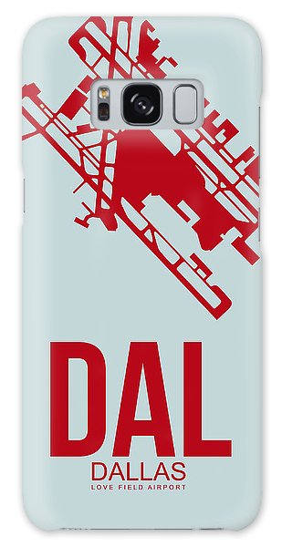 Dallas Galaxy S8 Case - Dal Dallas Airport Poster 3 by Naxart Studio