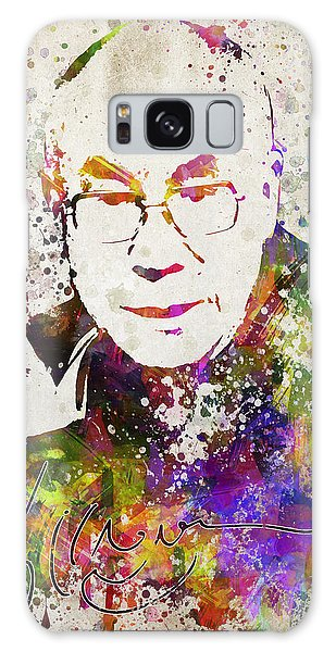 Buddhism Galaxy Case - Dalai Lama In Color by Aged Pixel