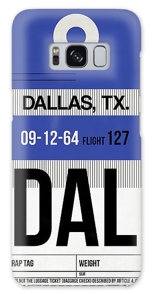 Dallas Galaxy S8 Case - Dallas Airport Poster 1 by Naxart Studio